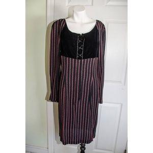 80's Gianfranco Ferre Lace-Up Wool Dress